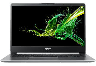 ACER Swift 1 (SF114-32-P9PM), Notebook mit 14 Zoll Display, Pentium® Silver Prozessor, 4 GB RAM, 64 GB eMMC, Intel® UHD-Grafik 605, Silber