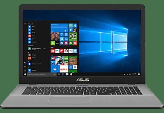 ASUS VivoBook N705UD-GC951T, Gaming Notebook mit 17.3 Zoll Display, Core™ i7 Prozessor, 8 GB RAM, 512 GB SSD, GeForce® GTX 1050, Star Grey