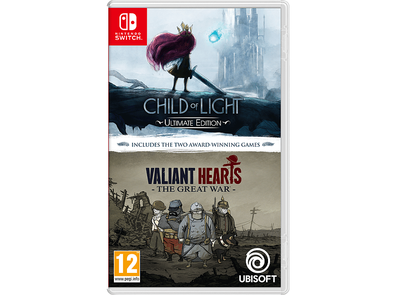 Child of Light and Valiant Heart Nintendo Switch gaming games switch games