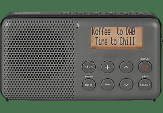 Sangean DPR-64 DAB+ Transistorradio FM Herlaadbaar Grijs, Zwart