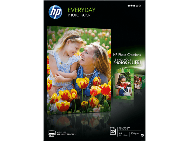 HEWLETT PACKARD Everyday Glossy Photo Paper A4 - (Q5451A) laptop  tablet  computing  εκτύπωση   μελάνια χαρτί εκτύπωσης