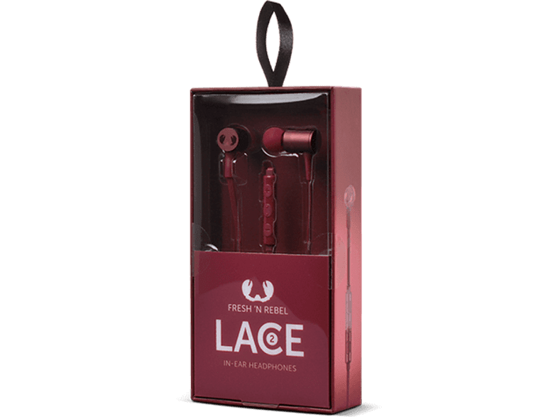 FRESH N REBEL Lace 2 In-ear headphones Ruby τηλεόραση   ψυχαγωγία ακουστικά ακουστικά in ear smartphones   smartliving αξεσο