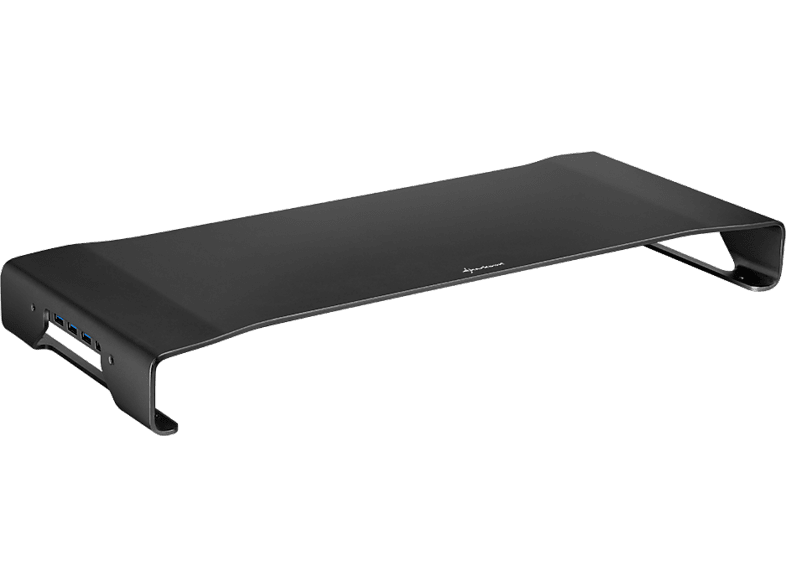 SHARKOON Aluminium Monitor Stand Pro Black Integrated Hub laptop  tablet  computing  περιφερειακά