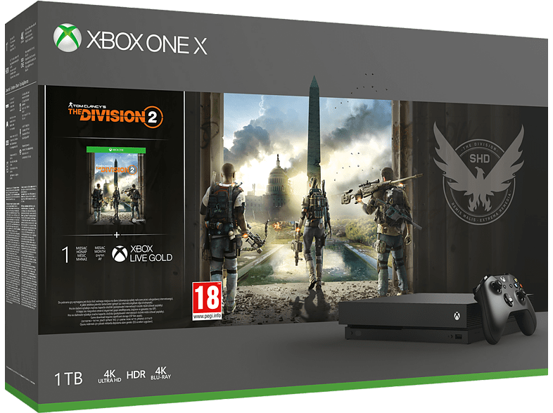 MICROSOFT Xbox One X 1TB The Division 2 gaming κονσόλες κονσόλες xbox one