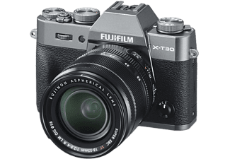 Fujifilm X-T30 systeemcamera Charcoal Silver + 18-55mm f-2.8-4.0 OIS Zwart