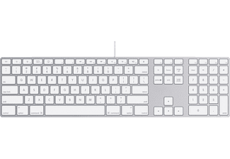 APPLE MB110D/B, Tastatur, Weiß
