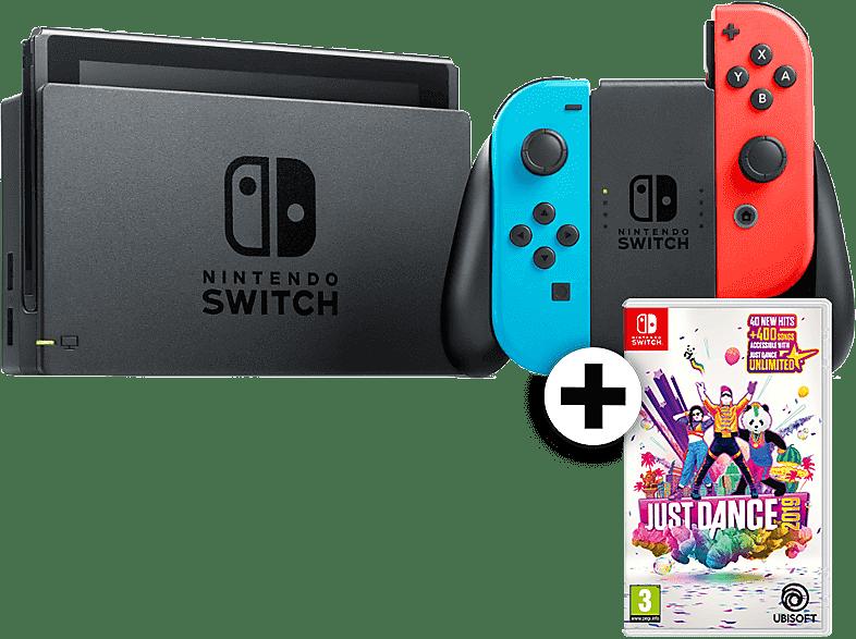 NINTENDO Switch με Red- Blue Joy-Con μαζί με Just Dance 2019 gaming κονσόλες κονσόλες nintendo  gaming φορητές κονσόλες