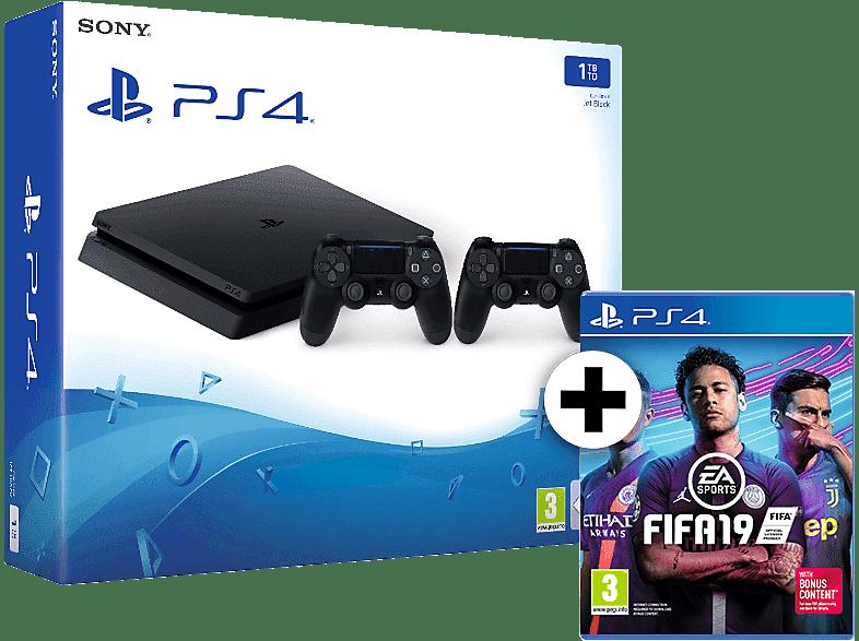 SONY SET PS4 1TB F Chassis Black μαζί με 2ο Dualshock 4 και FIFA 19 gaming κονσόλες κονσόλες ps4