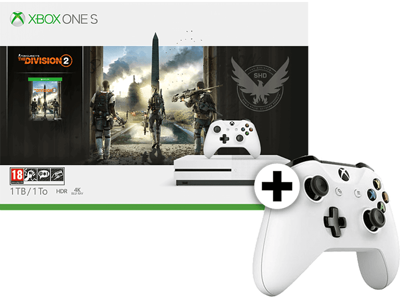 MICROSOFT Set Xbox One S 1TB The Division 2 μαζί με Wireless Controller - White  gaming κονσόλες κονσόλες xbox one