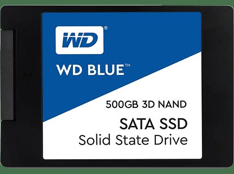 WESTERN DIGITAL Blue 3D NAND SATA SSD 500GB - WDS500G2B0A laptop  tablet  computing  αναβάθμιση υπολογιστή ssd laptop  tablet  computing