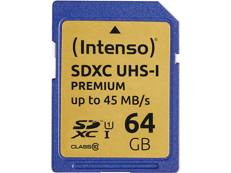 INTENSO SDXC UHS-I Premium SD 64GB - 3421490 laptop  tablet  computing  tablet   ipad κάρτες μνήμης hobby   φωτογραφία φωτογρ