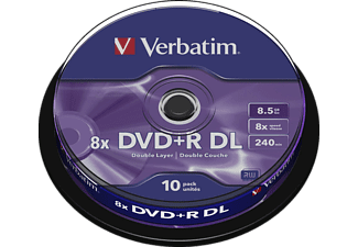 VERBATIM DVD+R Double Layer 10er Spindel Matt Silver 8x