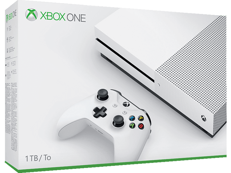 Microsoft Xbox One S (1 TB): Konsole inkl. 1 Controller