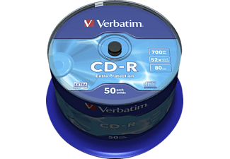 VERBATIM CD-R 52X 700MB EXTRA PROTECTION SURFACE 50