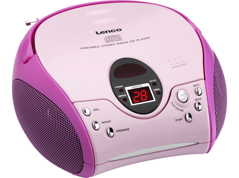 LENCO SCD-24 MP3 Radiorecorder (Pink)