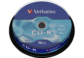 CD-R Data - Verbatim 43437 Cd-R 700 Mb 52X-Extra-Prot Cb 10