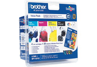 BROTHER LC-980VALBP Blister Noir - Cyan - Magenta - Jaune