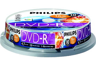PHILIPS DVD-R 16X CB (10)
