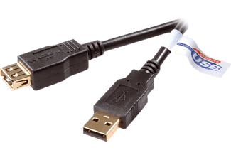 VIVANCO CEU630 USB 2.0 verlengkabel - 3 meter/45216