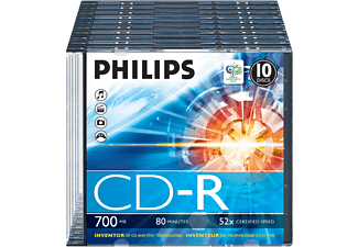 PHILIPS CD-R 80 52X SLIM (10)