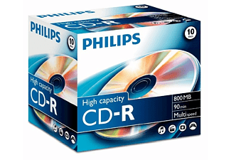 PHILIPS 10 x CD-R - 800 MB ( 90min ) - opslagmedia