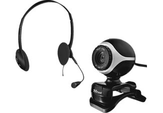 TRUST 17028 Exis Chatpack, Webcam, Schwarz