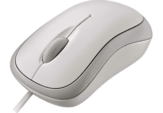 MICROSOFT Basic Optical Mouse Maus, Kabel, Weiß