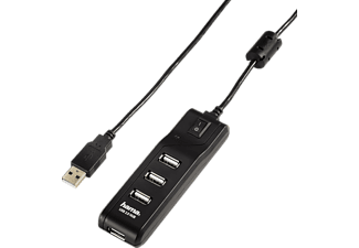 HAMA On/Off Switch USB 2.0 hub noir (54590)