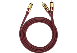 OEHLBACH 20567 NF Y-Adapter Set Cinch 8 m, Y-Subwoofer-Kabel, 8000 mm, Purpurrot