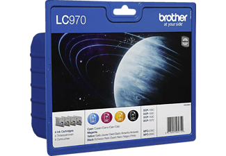 BROTHER LC-790VAL Blister Noir / Cyan / Magenta / Jaune (LC970VALBP)