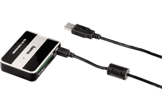 HAMA All in 1 USB 2 Card Reader - Lecteur de cartes (Noir, argent)