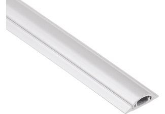 HAMA 20617 PVC Cable Duct, semicircular, 100/3.5/0.9 cm, White
