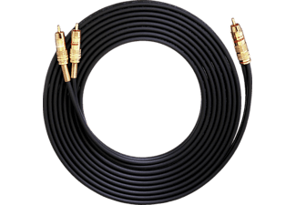 OEHLBACH NF 1 Y-Adapter Set Cinch /2x Cinch 3 m, Cinchkabel, 3000 mm, Schwarz