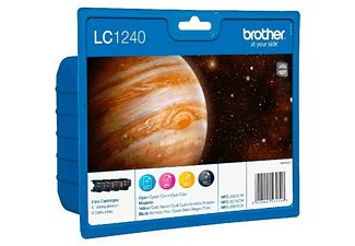BROTHER LC-1240 Blister Zwart - Cyaan - Magenta - Geel