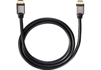 OEHLBACH Black Magic 220 High-Speed-HDMI® Kabel mit Ethernet, HDMI Kabel, 2200 mm, Schwarz