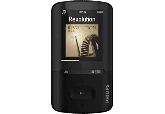 PHILIPS SA 4 VBE 04KN, MP4 Player, 4 GB, Akkulaufzeit: bis zu 20 Std. (Audio), 4 Std. (Video), Schwarz