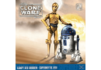 Star Wars - The Clone Wars 04: Kampf der Droiden / Superheftig Jedi - 1 CD - Kinder/Jugend