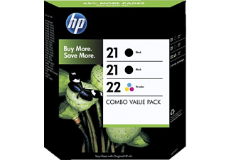 HP 21/21/22 3er-Pack Black+Colour SD400AE