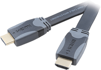 VIVANCO HDMI High Speed Ethernet kabel, flat/guld, 1.5m