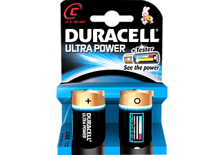 DURACELL Ultra Power C 2-pack - Batterier