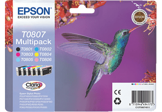 EPSON T0807 Claria Multipack (T0801,T0802,T0803,T0804,T0805,T0806)