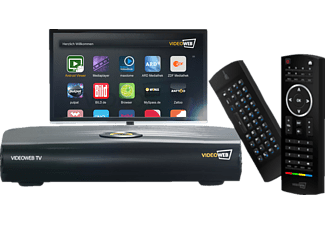 VIDEOWEB VideoWeb TV + Keyboard Remote Smart TV Upgrade Box, Schwarz