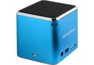 TECHNAXX MusicMan Mini BT-X2, Dockingstation, Blau
