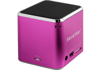 TECHNAXX MusicMan Mini BT-X2, Dockingstation, Pink
