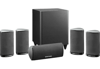 Home Cinema - Harman Kardon HKTS 5BK/230 Negro, Sistema 5.1