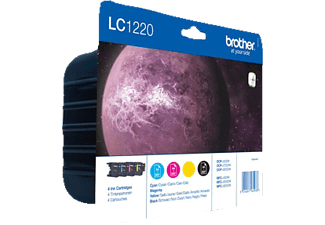 BROTHER LC-1220 Blister Zwart - Cyaan - Magenta - Geel