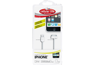 CELLULAR LINE 30-pin to USB Data Cable White