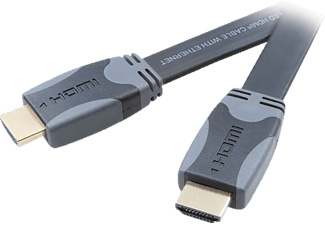 VIVANCO High Speed HDMI med platt design1.5m  - Svart