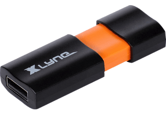 XLYNE USB-Stick Wave 64GB, USB 2.0, schwarz/orange (7164000)