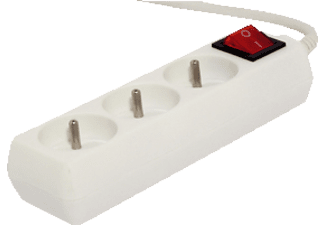 CHACON Bloc multiprise 1,5 m + Interrupteur Blanc (48014)